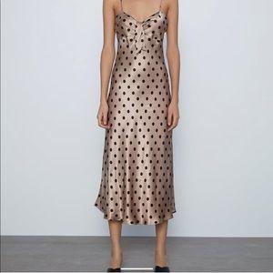 ZARA Polka Dot Camisole Dress